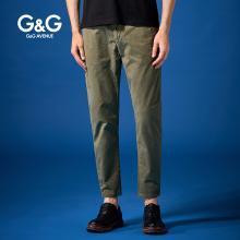 G&G夏季男士新款军绿色休闲裤男修身潮流小脚裤韩版百搭青年长裤