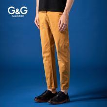 G&G 夏季男士2019新款休闲裤?#34892;?#36523;潮流百搭小脚裤薄款弹力长裤
