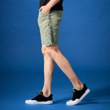 G&G 夏季2019薄款五分褲潮男士韓版休閑短褲男綠色修身直筒中褲