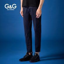G&G 男士夏季弹力休闲裤男直筒潮流韩版裤子修身学生百搭小脚裤