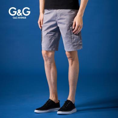 G&G男士2019新款灰色五分褲男寬松潮牌工裝短褲夏季薄款百搭中褲