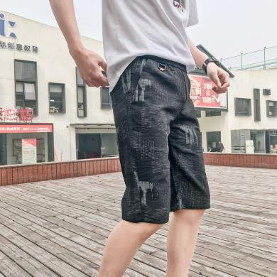 芃拉男士短褲夏季休閑寬松褲子五分褲夏天韓版潮牌運動褲男裝BM-AK01