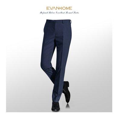 艾梵之家 藏青色西装裤?#34892;?#36523;商务职业正装西裤男士长裤EVXK157
