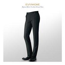 艾梵之家 商務修身羊毛西褲黑色西裝褲職業正裝小腳長褲XK072