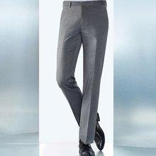 Evanhome/艾梵之家 薄款西装裤男修身型商务灰色小脚西裤职业裤子男免烫长裤EVXK109