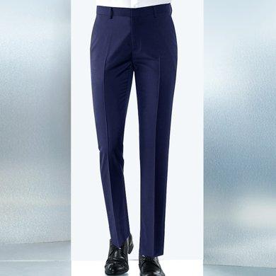 Evanhome/艾梵之家 商务正装西裤男夏季薄款西装裤工作长裤免烫修身型藏青色EVXK108