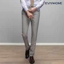 艾梵之家 亚麻夏季薄款西裤男 商务休闲西装裤男浅灰免烫西服裤子EVXK218