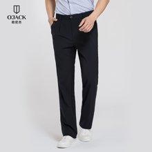 OJACK歐尼杰夏季新款帶折西褲長褲青年純色褲男褲1031