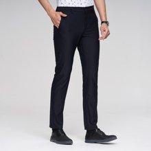 才子男装 商务休闲裤修身直筒新款舒适透气长裤中腰抗皱5172K1520