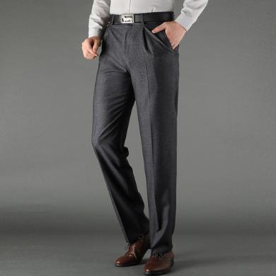 姝奕2019西裤?#26143;?#20908;款新款中年男裤?#32844;?#35013;西装裤厚直筒免烫单CLPL3613