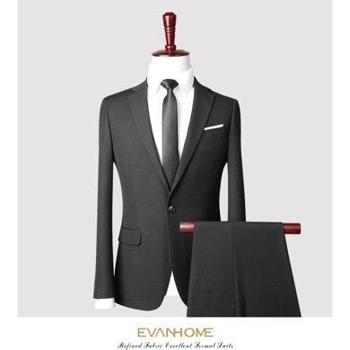 艾梵之家 西装套装男士西服韩版修身英伦风商务休闲职业装EVXF012