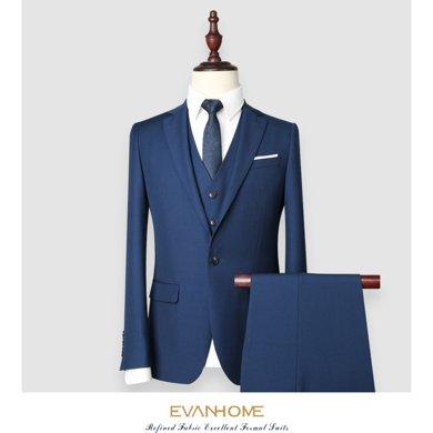 艾梵之家 秋季新款西服套装商务修身版男士西装外?#23383;?#19994;装EVXF143