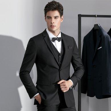 艾梵之家 男士西服套裝婚禮韓版修身商務正裝男西裝職業裝EVXF011