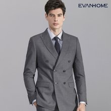 艾梵之家 灰色双排扣西服套装商务男士职业装两件套西装EVXF178