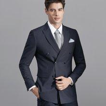 艾梵之家 修身款藏青色男士正装西服商务套装男EVXF131