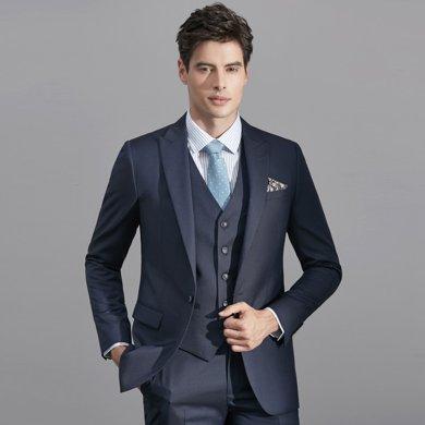 艾梵之家 西服套装男士正装新郎结婚伴郎礼服修身商务西装三件套EVXF134