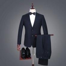 才子男装 男士西服套装商务绅士套西正装四季单排扣西装西裤套装 206501110