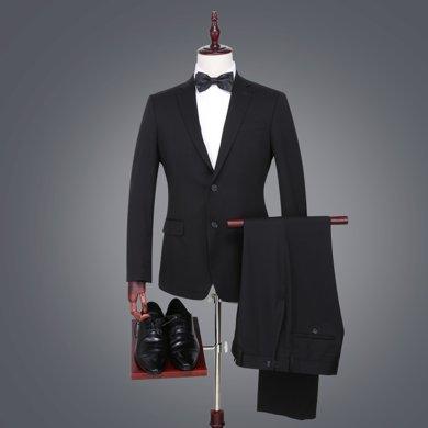 【清】才子男裝 男士西服套裝商務紳士套西正裝四季單排扣西裝西褲套裝 206501110