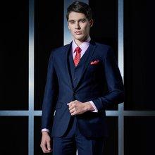 Evanhome/艾梵之家 新款西服套装男士商务正装西装三件套修身型职业装藏青色 EVXF088