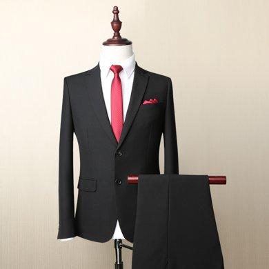 Evanhome/艾梵之家 春秋西服套裝男士修身型韓版新郎結婚商務款職業西裝外套XF013