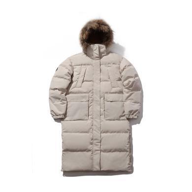 李宁长款羽绒服女士2019新款运动时尚系列保暖冬季白鸭绒运动服AYMP154