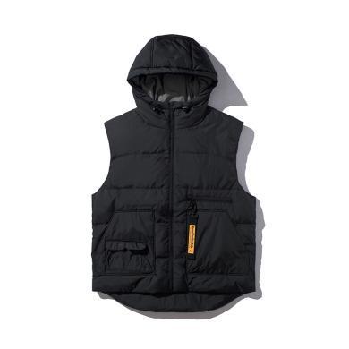 李宁运动时尚系列男子保暖70%灰鸭绒羽绒马甲AMRP011