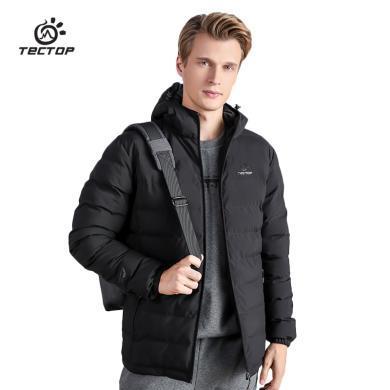 TECTOP/探拓 男款連帽中厚款棉服輕盈保暖加厚棉衣外套