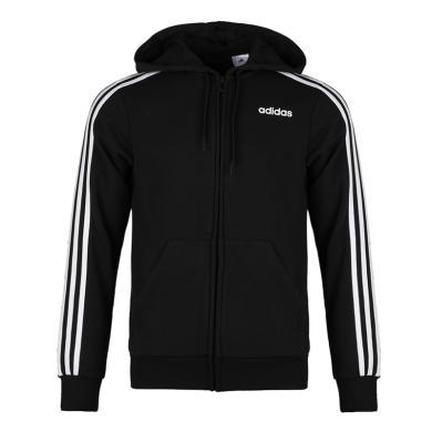 adidas阿迪达斯2019男子夹克运动服三条杠简约休闲针织外套DQ3102