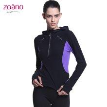 Zoano/佐纳 运动卫衣女修身款套头衫健身跑步服户外运动服外套女