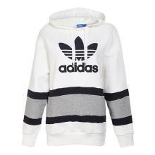 Adidas三葉草 女子 秋季新款運動休閑套頭衫 連帽衛衣外套 BS4292