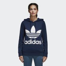 Adidas 三叶草 女款套头衫休闲运动连帽衫卫衣CE2410