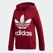 Adidas 三葉草 女款套頭衫休閑運動連帽衫衛衣 CE2409
