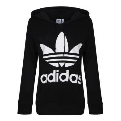 adidas Originals阿迪三葉草2019年女子TREFOIL HOODIE針織套衫CE2408