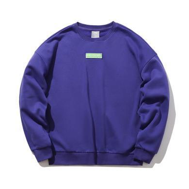 李寧運動時尚系列男女同款寬松套頭衛衣AWDP696