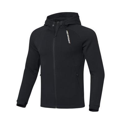 李寧外套男士2019新款訓練系列開衫長袖連帽男裝秋季針織上衣AWDP461