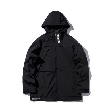李寧風衣男士新款BADFIVE籃球系列開衫長袖防風服梭織連帽外套男AFDP221