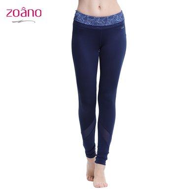 佐納(ZOANO) 瑜伽運動長褲 高腰顯瘦修身提臀健身打底褲