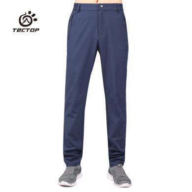 TECTOP/探拓速干褲男款長褲 戶外春夏輕薄透氣修身彈力運動健身跑步褲