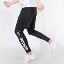 阿迪达斯 男假两件套运动紧身跑步训练健身长裤打底裤 BR8472