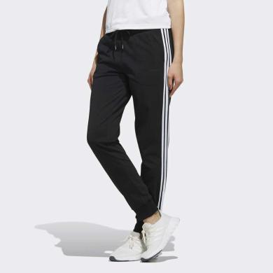 adidas neo阿迪休闲2019女子运动裤修身舒适三条纹休闲针织长裤FK9965