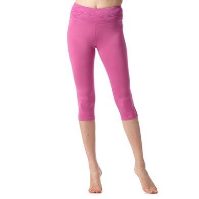佐納(ZOANO) 瑜伽褲女高腰跳舞運動緊身網布拼接彈力透氣速干七分褲