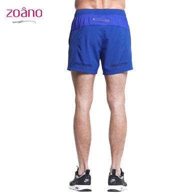 佐纳(ZOANO) 夏季男士 运动夜跑步健身短裤  舒适透气 速干高弹运动健身裤短裤