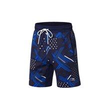 李宁短卫裤男士新款运动时尚系列沙滩裤夏季运动裤AKSN151