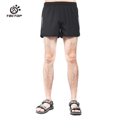 探拓户外男女款速干短裤排汗透气三分裤跑步运动弹力速干情侣款