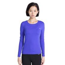 zoano佐纳 运动长袖女 简约圆领跑步健身瑜伽服?#38041;?#21152;绒加厚T恤