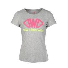 德尔惠官方正品女装春夏新品运动圆领t恤纯棉透气短袖上衣71620171