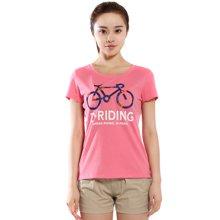 德尔惠夏季新款户外跑步运动T恤女短袖速干圆领T恤衫62620128