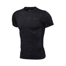 李宁短袖T恤男士新款篮球系列速干一体织凉爽潮流短装夏季运动服ATSM187
