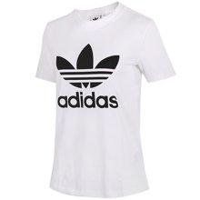 Adidas阿迪达斯三叶草女款2018春季新款透气运动短袖T恤CV9888