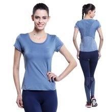 佐纳(ZOANO) 夏季 女款 跑步瑜伽健身服 夜跑 舒适透气 速干 修身运动短袖T恤